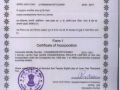Incorporation certificate dt